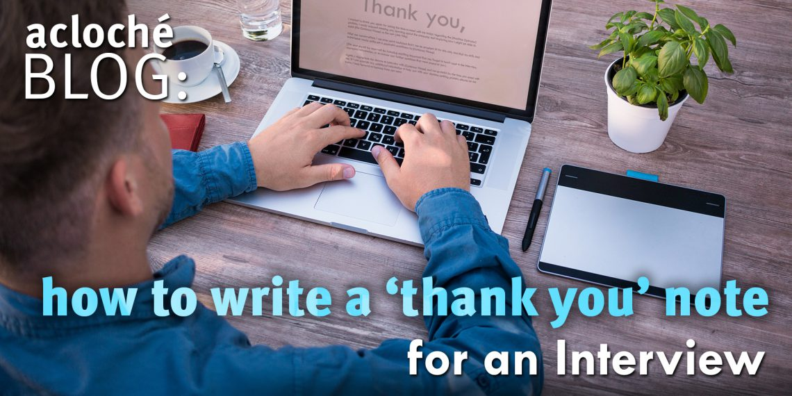 Thank You Note blog image