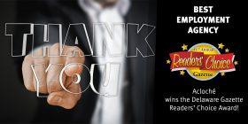 Acloché of Delaware Wins 3rd Consecutive Readers' Choice Award