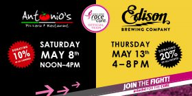 Acloché to Host Fundraising Events at Antonio's Pizzeria & Edison Brewing Company